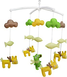 Décoration de lit bébé Musique Berceau Mobile Cadeaux faits à la main Jouet suspendu R02
