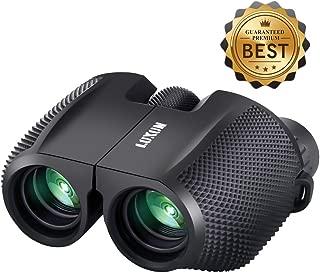 SGODDE Compact Binoculars 10x25 Waterproof Binocular Weak Light Night Vision Folding High Powered Clear Binoculars Lightweight Bird Watching