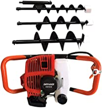 52cc 2.3hp 2-Stroke Air-cooled Gas Powered Engine Post Hole Digger Earth Auger with 3pcs 4