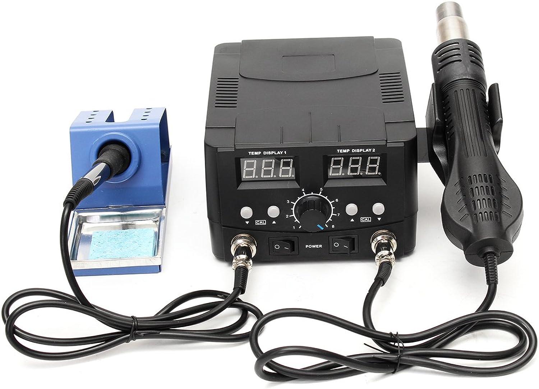 Werse 110V 2 In 1 Lötkolben Lötkolben Lötkolben Entlöten Rework Lötstation LCD Heißluftheizung B07HC9Q6MW | Lass unsere Waren in die Welt gehen  89147d