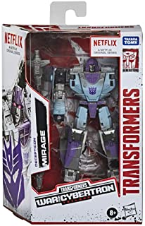Transformers Toys Generations War for Cybertron Trilogy Series-Inspired Deluxe Decepticon Mirage Action Figure - Ages 8 an...
