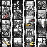 murando Papel Pintado PURO 10m Fotomurales tejido no tejido rollo Decoración de Pared decorativos Murales XXL moderna de Diseno Fotográfico City Ciudad New York Film d-C-0001-j-b