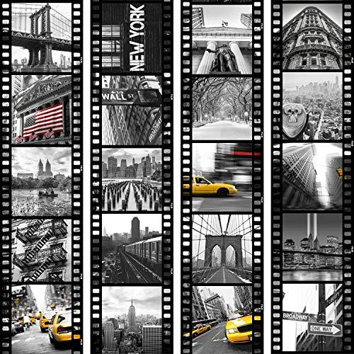 murando - PURO TAPETE - Realistische Tapete ohne Rapport und Versatz 10m Vlies Tapetenrolle Wandtapete modern design Fototapete - City Stadt New York Film d-C-0001-j-b