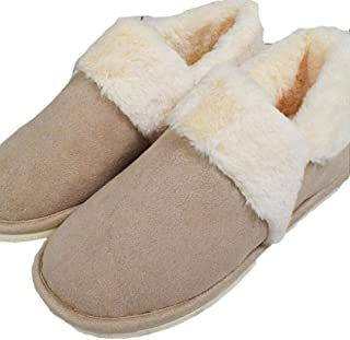 Small Fresh Simple Cotton Slippers Women Winter Indoor Thick Bottom Bag with Home Slippers Warm Non-Slip Slippers Slippers Anti-Skid Indoor Cosy Shoes (Color : Khaki, Size : 37-38)