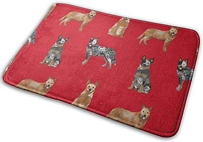 """Australian Cattle Dog Pet Quilt A Cheater Coordinate_23061 Doormat Entrance Mat Floor Mat Rug Indoor/Outdoor/Front Door/Bathroom Mats Rubber Non Slip 23.6"""" X 15.8"""""""