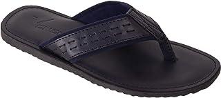 VONZO Men Blue Slip On Formal Casual Slipper Flip Flops