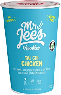 Mr Lee's Tai Chi Chicken Instant Cup Noodles, Made in Australia, The Finest 100% Real Chunks of Ingredients, Gluten Free. ...