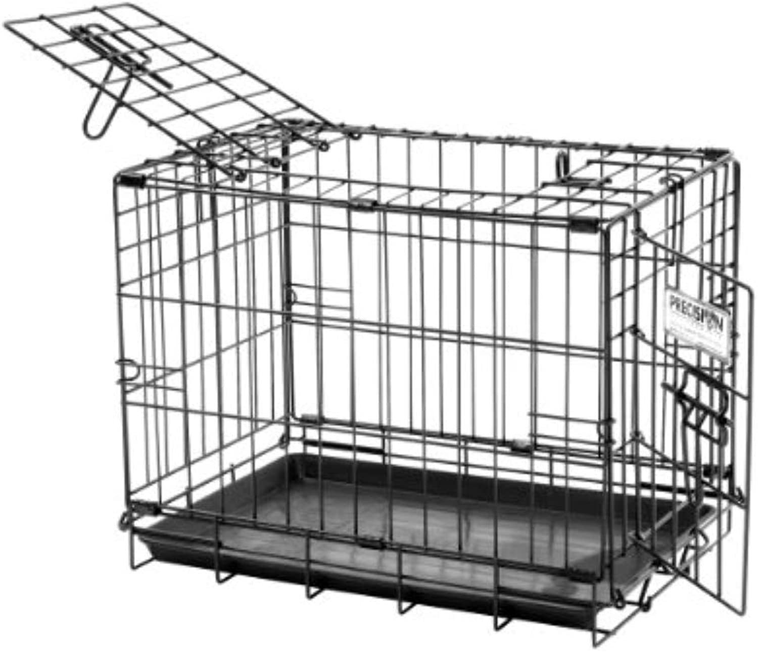 Precision Pet Products Black ProValu2 Dog Crate 1000, 19Inchby12Inchby14Inch, 2Door