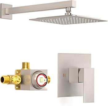 SunCleanse ZDQ-SHG0801 Brushed Nickel Shower Faucet