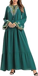 zhbotaolang Long Skirt for Muslim Women Islamic Dress Kaftan Robe