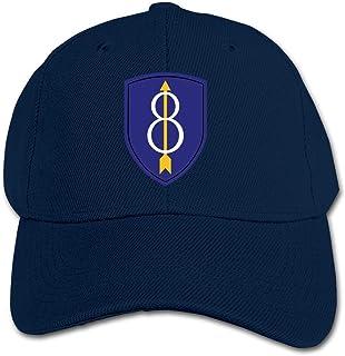 ADGoods Kids Children 8th Infantry Division Baseball Cap Adjustable Trucker Cap Sun Visor Hat For Boys Girls Gorra de béis...
