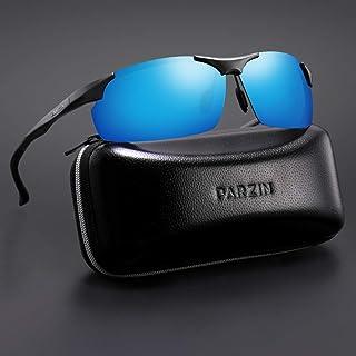 PARZIN 偏光サングラス メンズ 超軽量ゴーグル UV保護 サイクリング ランニング 運転 釣り ゴルフ Al-Mg フレーム