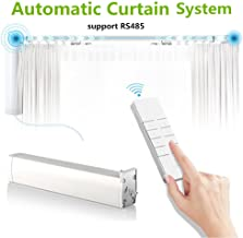 Automatic Curtain system Electric Remote Controlled Drapery System Track Center Opening & Wall Mount Brackets,support RS485 (motor)