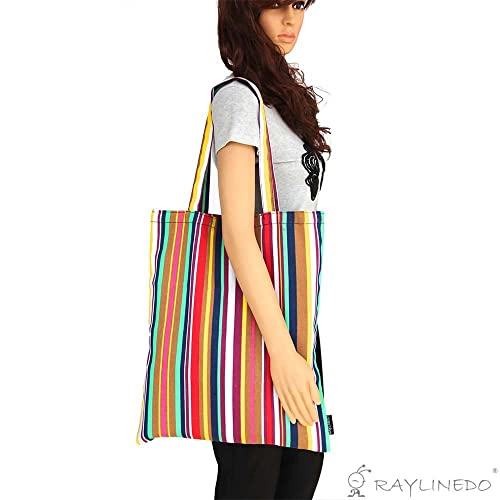 30d5d4a4a2dd RayLineDo reg  Eco-Friendly Resuable Large Multi Colour Bohemia Canvas DIY  Crafts Carry-All