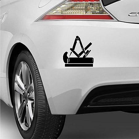 Pegatina Promotion Zunftzeichen Handwerker Zimmerer Mittelalter Symbol 20cm Aufkleber Autoaufkleber Wandtattoo Sticker Uv Waschanlagenfest Profi Qualität Auto