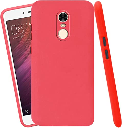 Jkobi Soft Silicon Camera Protection Back Cover Case For Xiaomi Mi Redmi Note 4 With Color Highligted Smoke Buttons Red