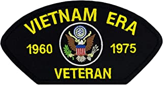 """PATCHTOWN US Military - Vietnam Era Veteran - Embroidered Patch 5 3/16"""" x 2 5/8"""""""