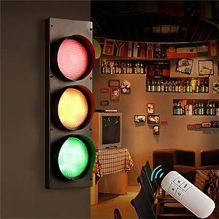 ANKBOY LED Lampe Murale avec Interrupteur Feux Tricolores, Applique Murale DéCorative RéTro CréAtive Feu De Circulation En...