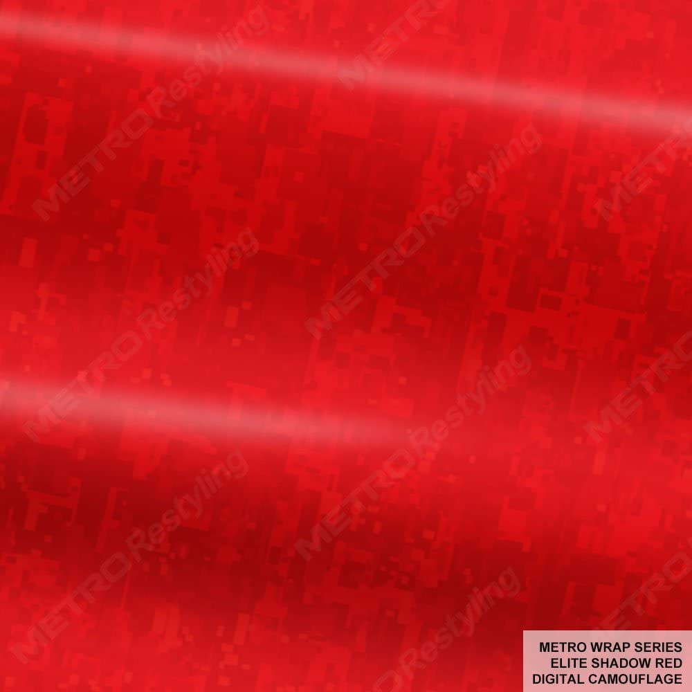 5 ☆ popular Metro Wrap Series Elite Shadow Red High quality new Camouflage x 5ft Digital 3ft