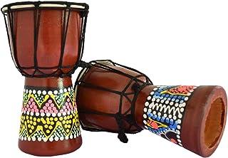 """طبل آفریقایی Djembe (6 """"، قهوه ای)"""