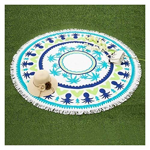 Hermosamente Toalla de playa redonda 150 cm Donas geométricas Impreso Microfibra Ducha Toallas Círculo Bohemia Toallas de baño Mantilla de chal Alfombra al aire libre, manta de picnic, ( Color : C )