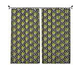 Cortinas plisadas con aislamiento térmico de cactus, con diseño geométrico de...