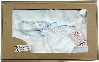 村信 La・morfet 新生儿衣服 礼盒装 短内衣&连体内衣&手风&帽子针织材料 GB-L1300-5 萨克斯