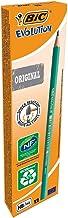 BIC Ecriture Evolution Original Crayons à Papier Gris - Certifiés NF Environnement - Pointe HB, Boîte de 12