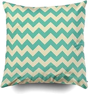 Ducan Lincoln Pillow Case 2PC 18X18 PulgadasFunda De Almohada, Fundas De Almohada para Sofá Patrón Sin Costuras Triángulo Feliz Arte Abstracto Fondo Artístico Fondo Azul C Cuadrado