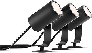 Philips Hue White and Color Ambiance Lampa Zewnętrzna Lily, Zestaw bazowy - 3 Reflektory LED Ogrodowe, zasilacz (wymagany ...