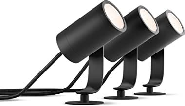 Philips Hue Lily Tuinspot 3-Lichts Basis Set - Buitenlamp - IP65 - Duurzame LED Verlichting - Wit en Gekleurd Licht - Dimb...