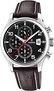 Festina F20375/6 Leather Analog Casual Watch for Men