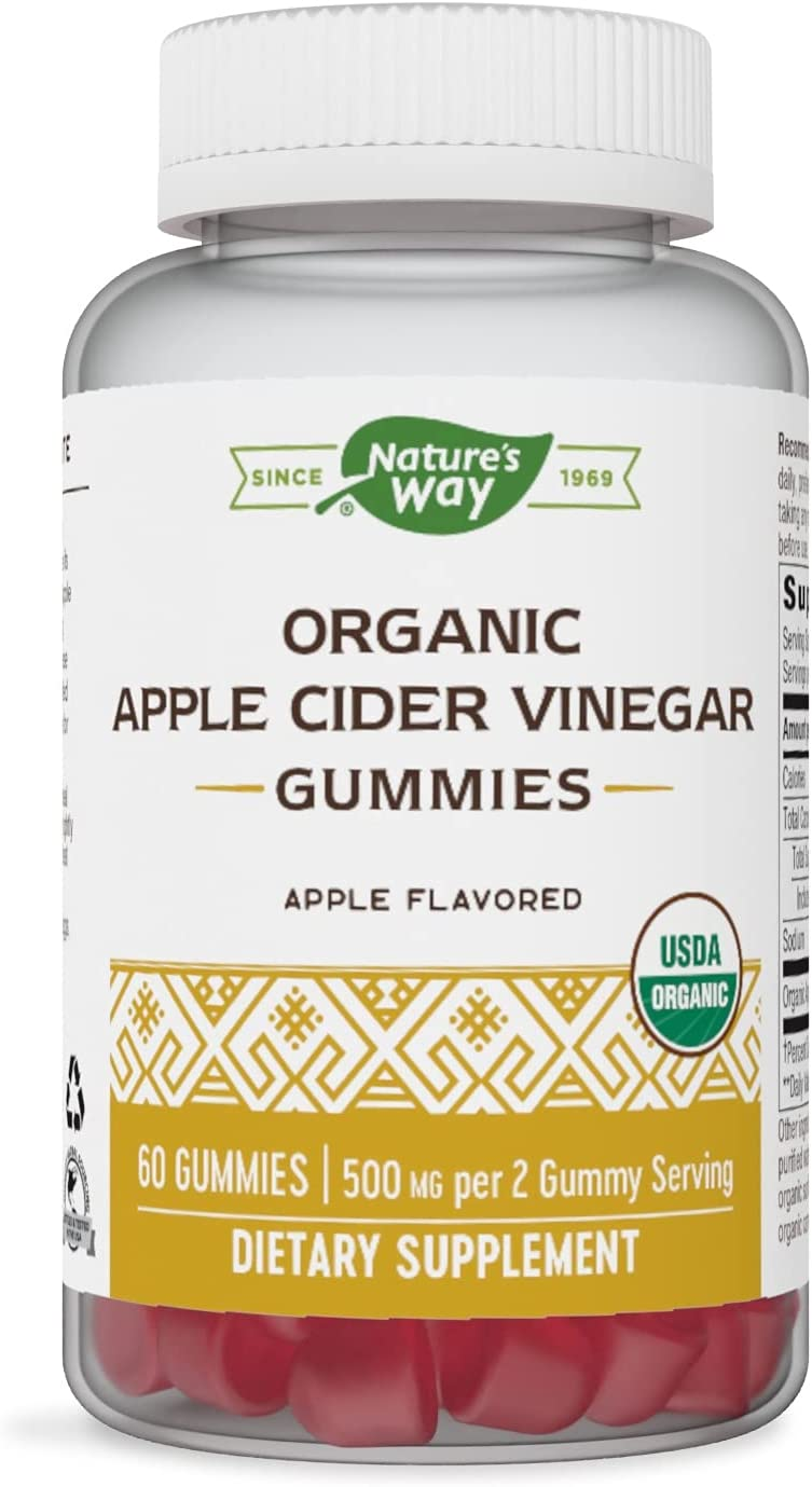 Nature's Way Organic Apple Cider Vinegar?Gummies, 60 Count
