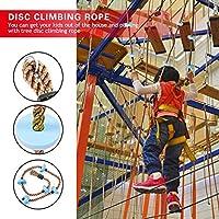 遊び場クライミング ロープ、ディスク クライミング ロープ エンターテインメント フィジカル ゲーム アウトドア パーティー アウトドア ゲーム 子供のおもちゃ(blue)