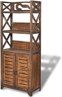 vidaXL 242690 szafka łazienkowa z drewna 46 x 24 x 117,5 cm, szafka łazienkowa, wysoka szafka łazienkowa, paulownia, jeden...