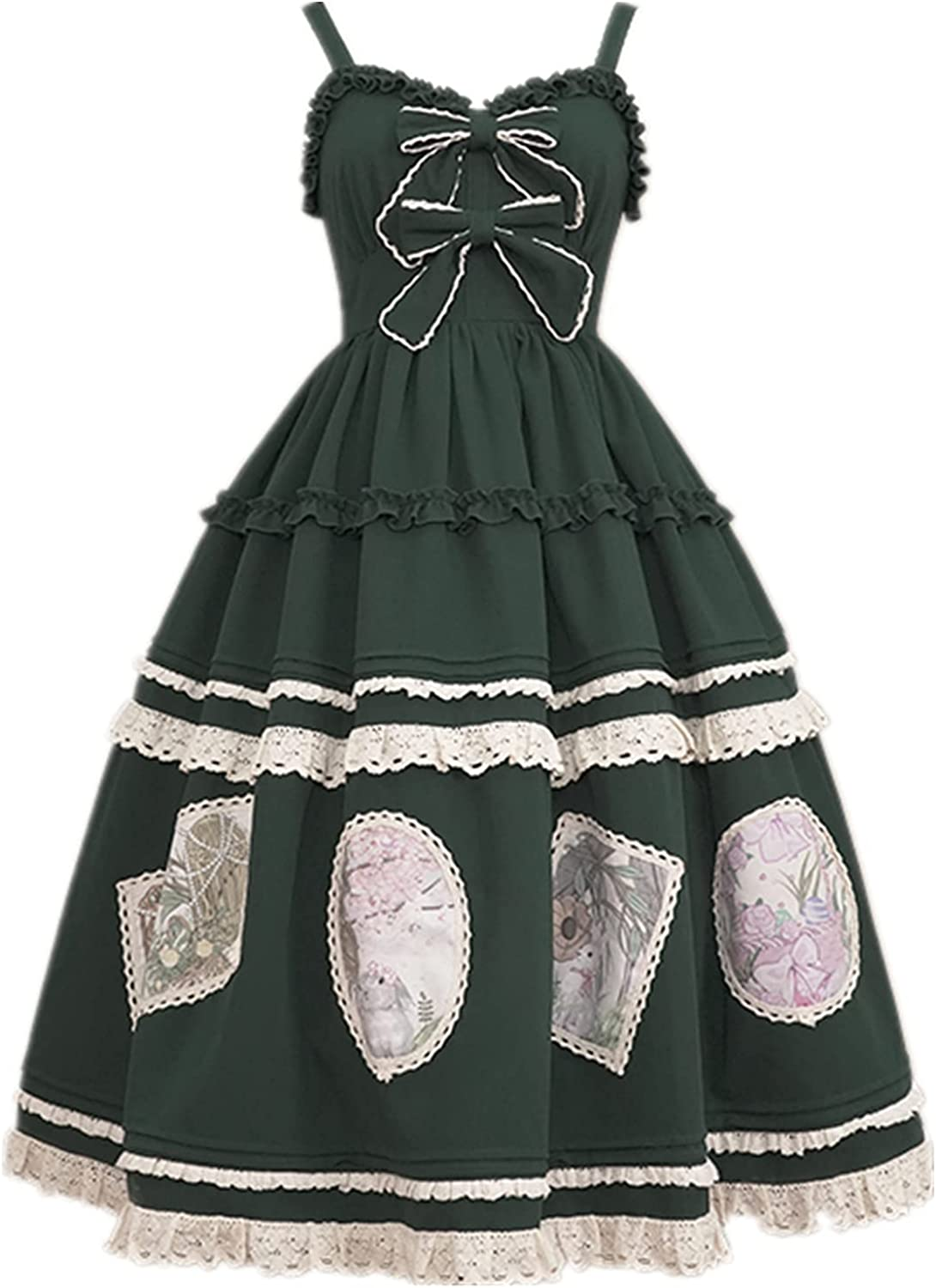 Lolita pure color green jsk dress line All stores are sold lolita elegant skirt Cheap mail order specialty store cla