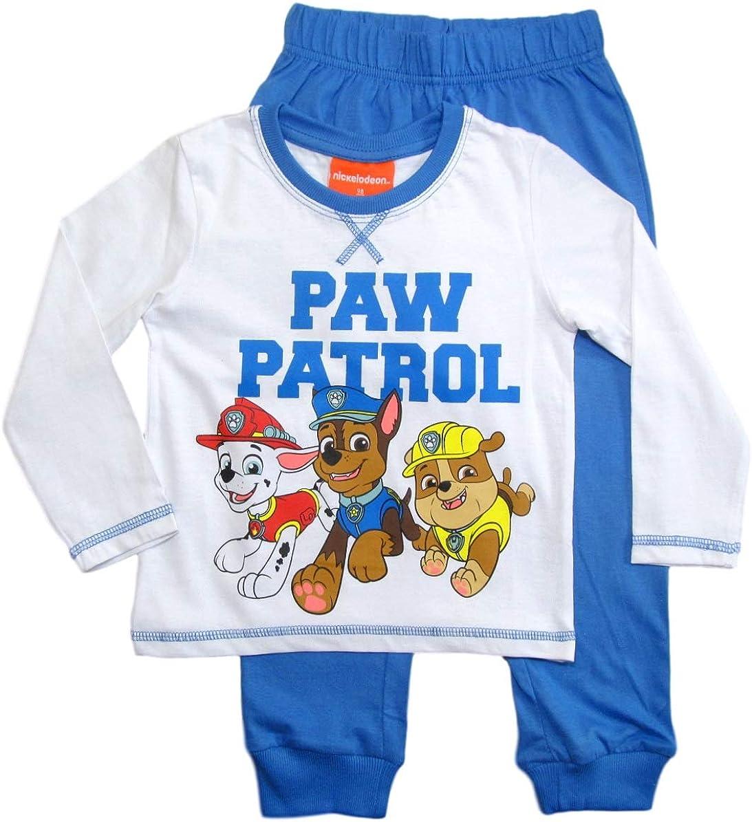 PAW PATROL Schlafanzug Jungen Pyjama Schlafanzug Lang
