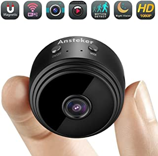 Mini cámara espía cámara Oculta de WiFi Ansteker HD 1080P inalámbrica con cámaras de Seguridad de visión Nocturna de detección de Movimiento cámara de Mascota de niñera para iPhone/Android/iPad/PC