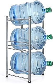 Water Cooler Jug Rack 3-Tier Water Bottle Storage Rack 5 Gallon Detachable Heavy Duty Water Bottle Holder Shelf Water Bottle Rack Save Space for Home Office Organization, Sliver