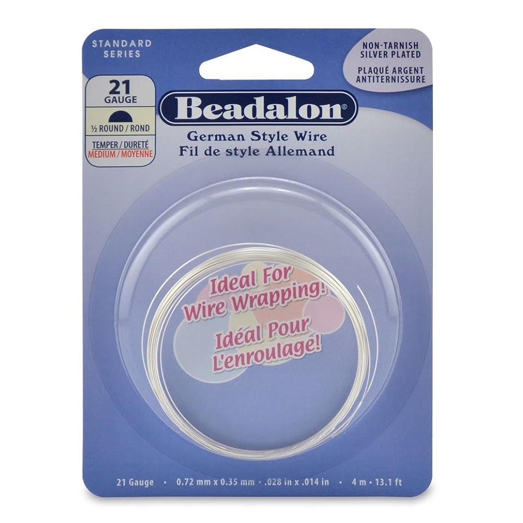 Beadalon Half Round Silver Plated 21-Gauge Wire, 4-Meters