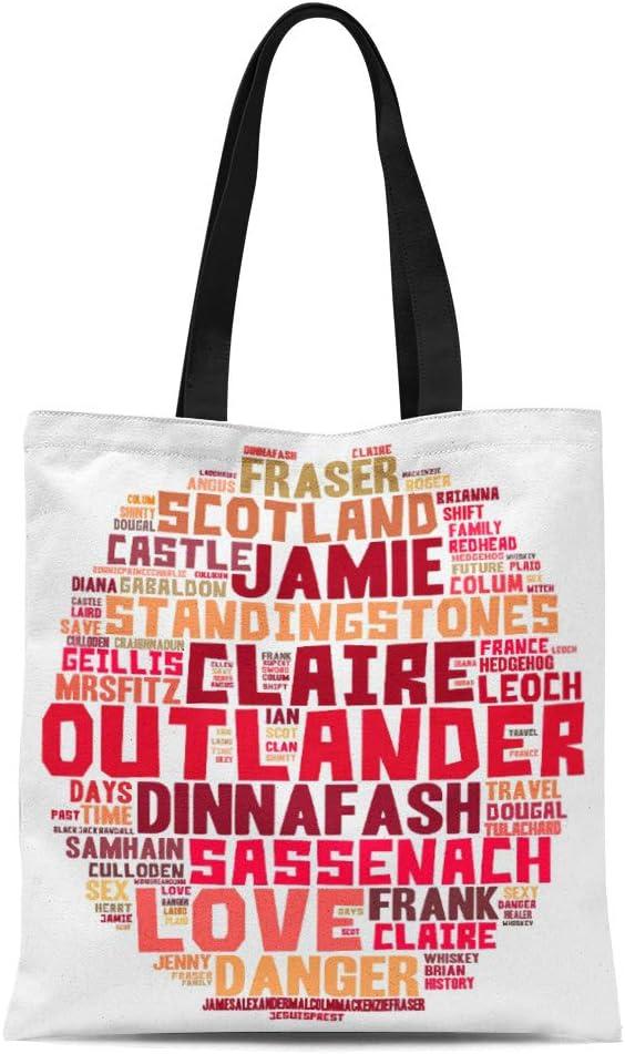 Semtomn Cotton Sales results No. 1 Line Canvas Luxury Outlanderfanmerch Tote Bag Outlander