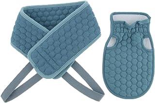 Perfeclan マッサージ 角質除去 美肌効果 背中 バスグッズ あかすり ボディータオル シャワー 4色選ぶ - 青