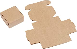 30 Pack Small Kraft Brown Gift Box (2 1/8 x 2 1/8 x 1 Inch)