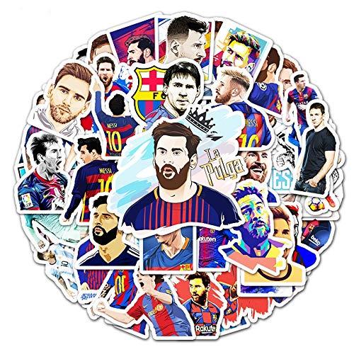 PMSMT Messi und Ronaldo berühmte Fußballstars Aufkleber wasserdichte Sonnencreme Anime Cartoon Graffiti Kinderspielzeug Laptop Gepäck Aufkleber Dekor
