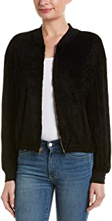 Womens Vali Velvet Bomber Jacket