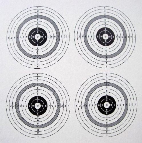 100 shoot-club Zielscheiben 14x14cm mit 4 Spiegeln und 250 g/m² - ShoXx.® Set