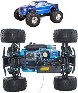 1/10 Petrol 4WD RC Scale Buggy Car, with 75Cc Fuel Tank, Self-Cooling Engine, Absorption Hydraulic Shock, Simulation Model...