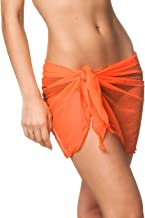 Coqueta Women's Beach Cover up Sarong wrap Mesh Swimsuit Skirts Coverup Swimwear