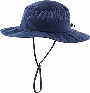 Kid's Mesh UV Sun Hat Hiking Bucket Hat Wide Brim Summer...