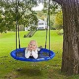 """40"""" Saucer Tree Swing Set, Kids Outdoor Adjustable Hanging..."""